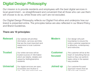 Part of Nottinghamshire County Council's Digital Design Philosophy